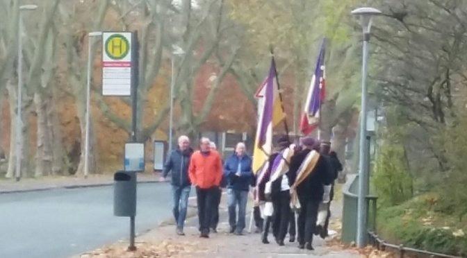 Burschenschaften versammeln sich am Volkstrauertag in Münster