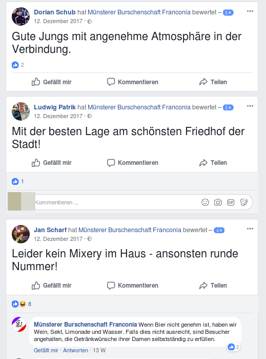 "Kader der ""Identitären"" hinterlassen Grüße (Screenshot)."